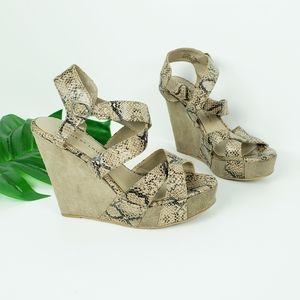 Chinese Laundry Wedge Platform Strappy Sandals